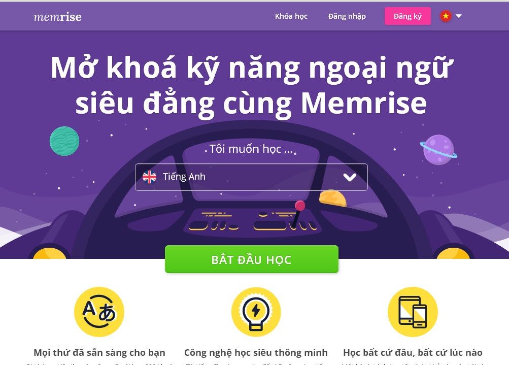 Giao diện Memrise